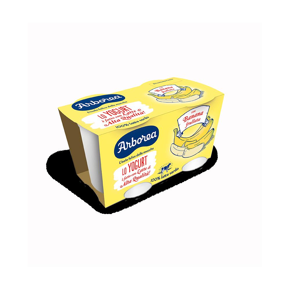 yogurt intero banana frullata